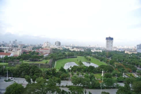 Manila Hotel View from our room
